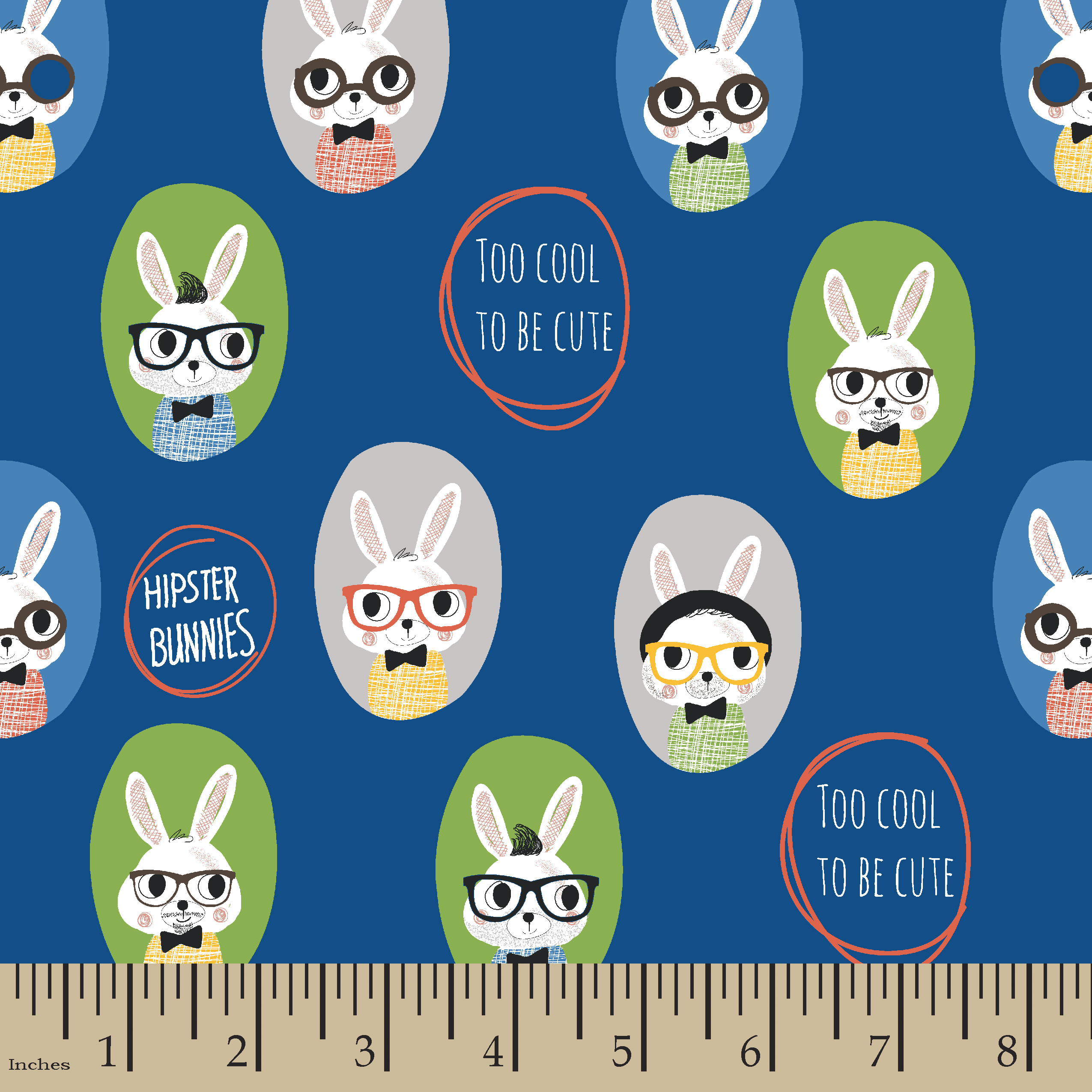 Cute Bunnies Flannel Fabric by the Yard