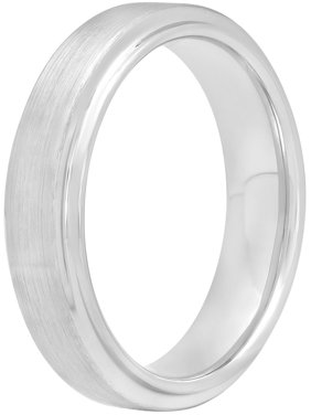 Men's Tungsten 6MM Satin and High-Polished Wedding Band - Mens Ring