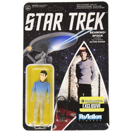 : The Original Series Beaming Spock ReAction 3 3/4-Inch Retro Action Figure - Limited Edition, Fascinating. By Star - Reactor Series