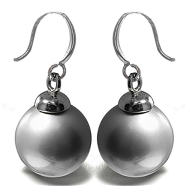 88 Imports ME0604 Mother of Pearl Earrings - Light Gray