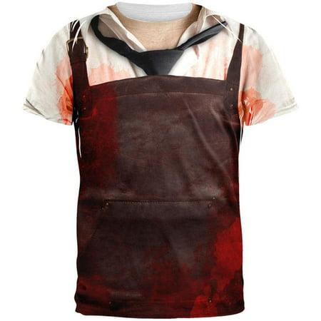 Chainsaw Massacre All Over Adult T-Shirt - Halloween Massacre Toronto