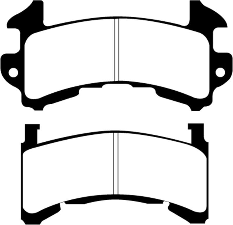 EBC 89-97 Chevrolet Blazer 4.3 S-10 (2 Wheel ABS) 2WD Redstuff Front Brake Pads