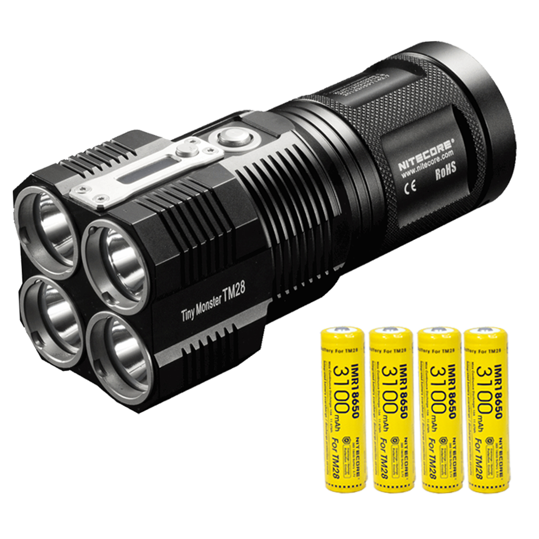 NITECORE TM28 Tiny Monster 6000 Lumen QuadRay Rechargeable Flashlight