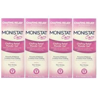 4 Pack Monistat Soothing Care Chafing Relief Powder-Gel, 1.5-Ounce Tube