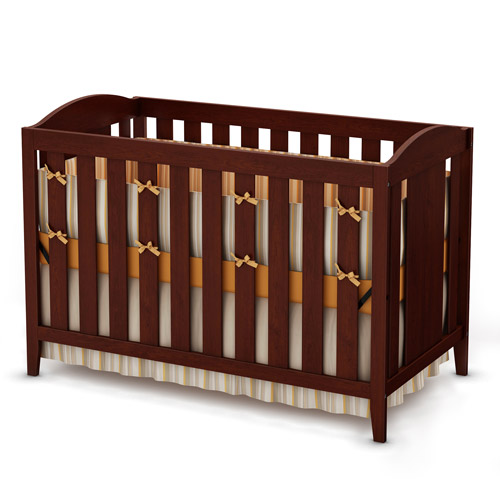 South Shore Sweet Morning Collection Crib and Toddler Bed, Royal Cherry
