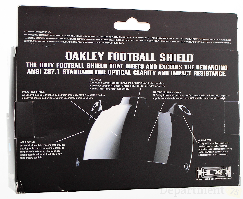 Oakley football eyeshield visor stickers decals