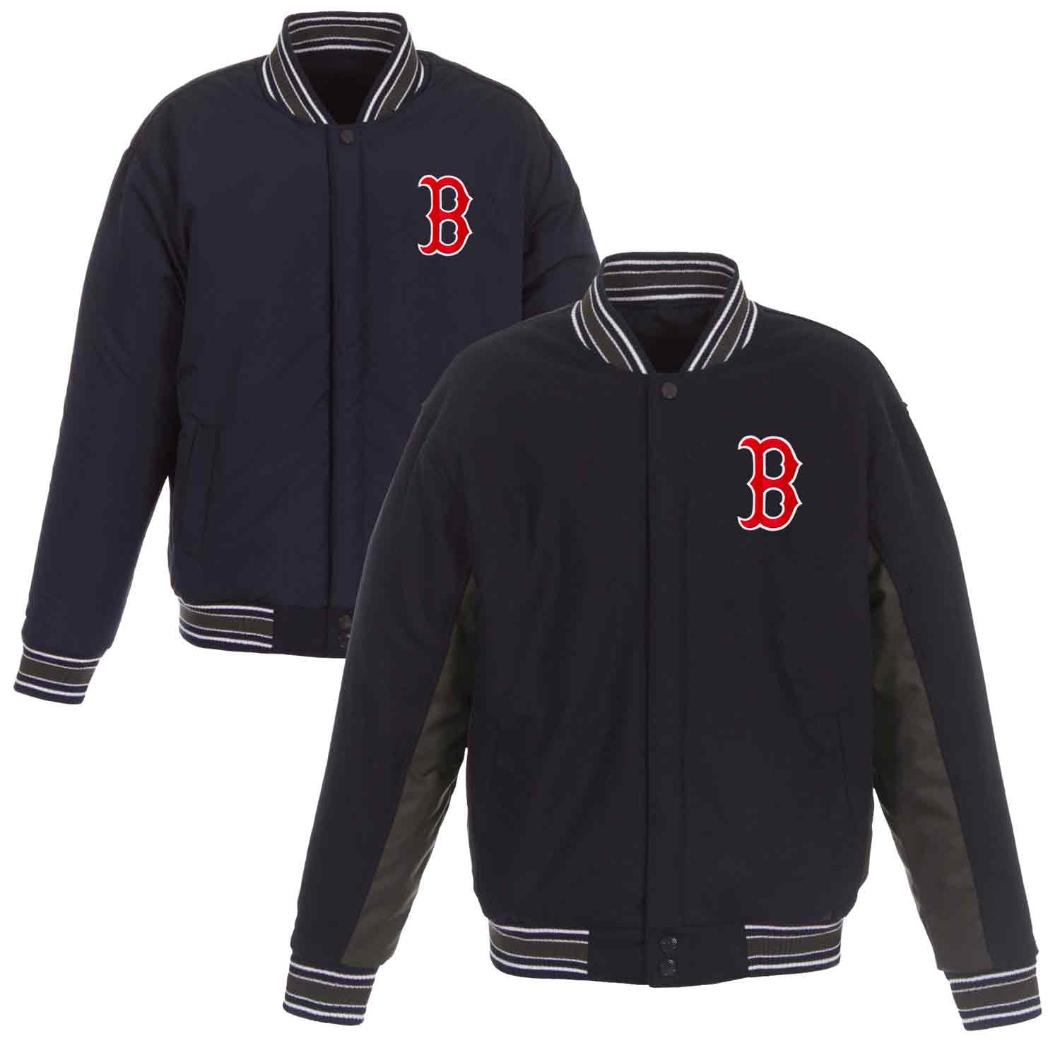 Boston Red Sox JH Design Wool Poly-Twill Accent Jacket - Navy