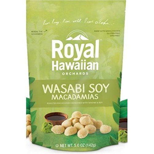 Royal Hawaiian Orchards Wasabi and Soy Macadamias Nuts, 5 oz by ROYAL HAWAIIAN ORCHARDS