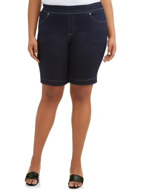 601fae9ccc Product Image Women s Plus Size Stretch Denim Pull-On 2 Pocket Short
