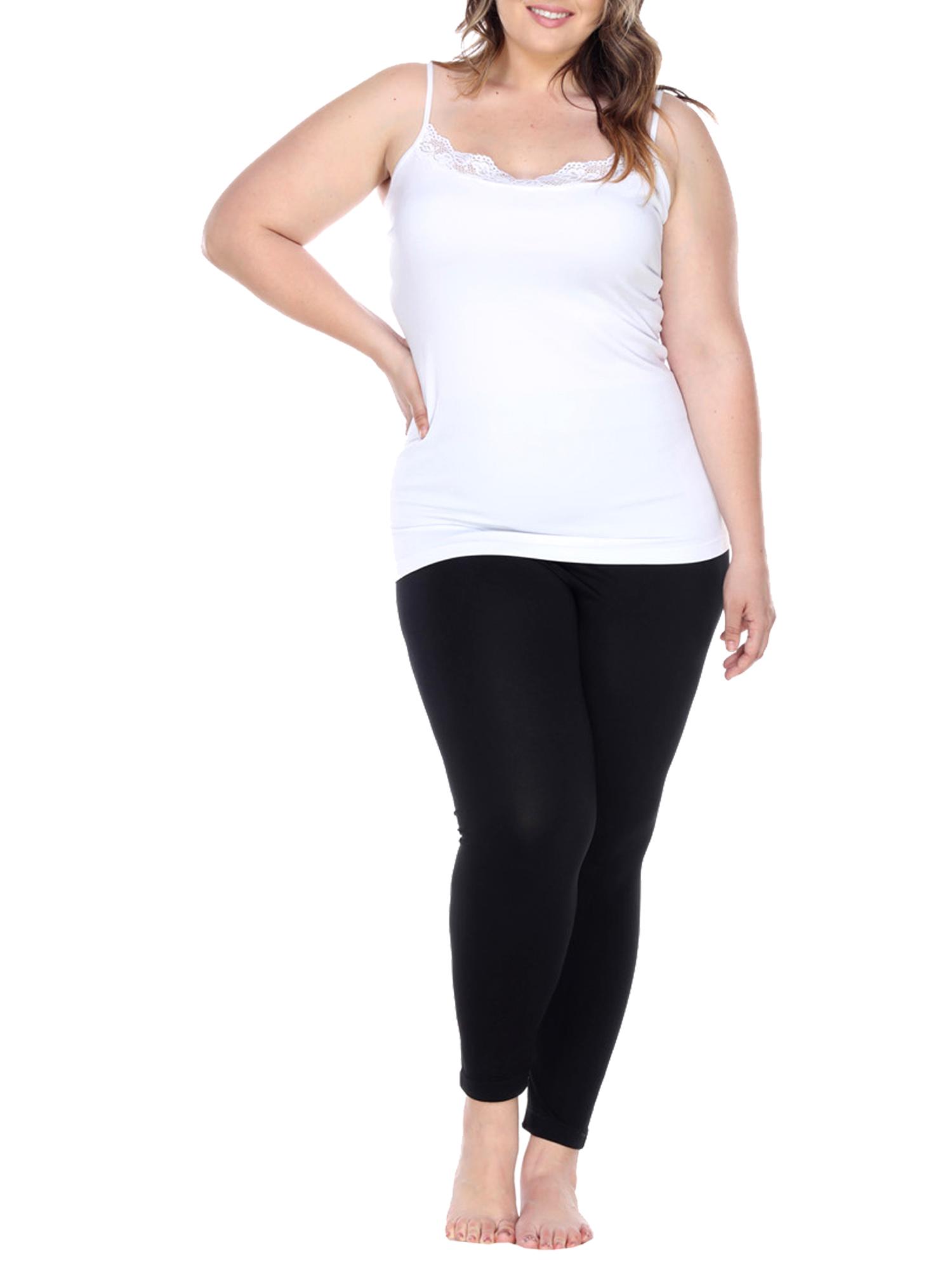 Women's Women's Plus Size Super-Stretch Solid Leggings