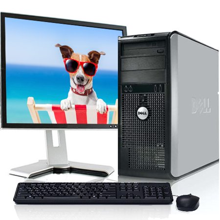 Refurbished Dell Optiplex Windows 10 Desktop Computer System with 250GB Hard Drive and a 19