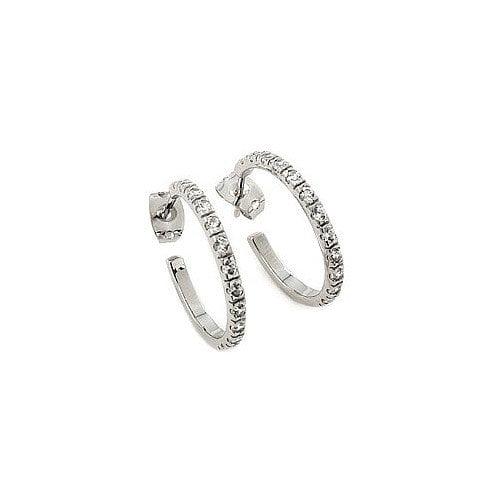 Plutus Partners Cubic Zirconia Hoop Earring