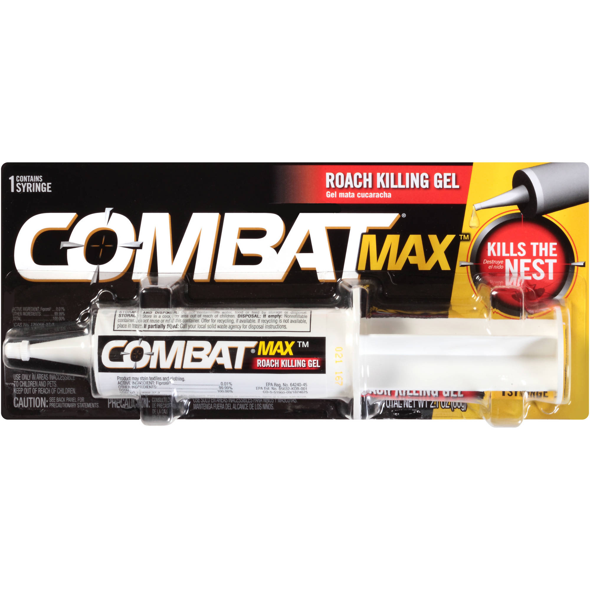 Combat Max Roach Killing Gel, 2.1 oz