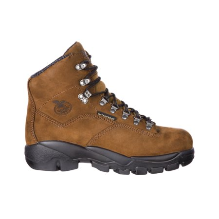 Georgia Mens Suspension System Steel Toe Waterproof Work Boots Brown Leather Nylon 12 W