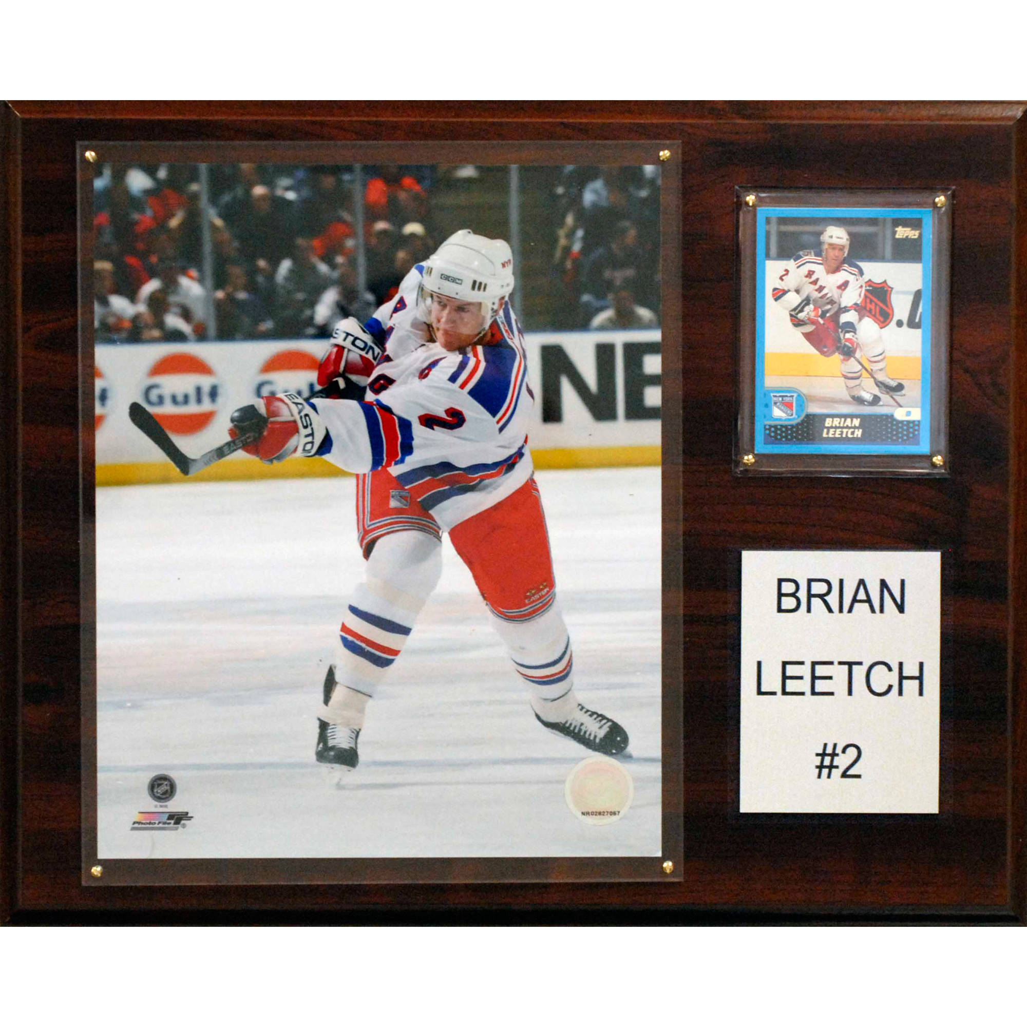C&I Collectables NHL 12x15 Brian Leetch New York Rangers Player Plaque