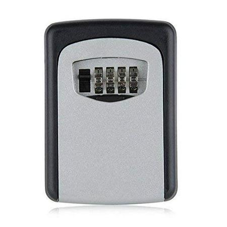 Heavy Duty Wall Mount Lock Box 4 digit Combination Key Lockbox Realtor's Open House Holds up to 5