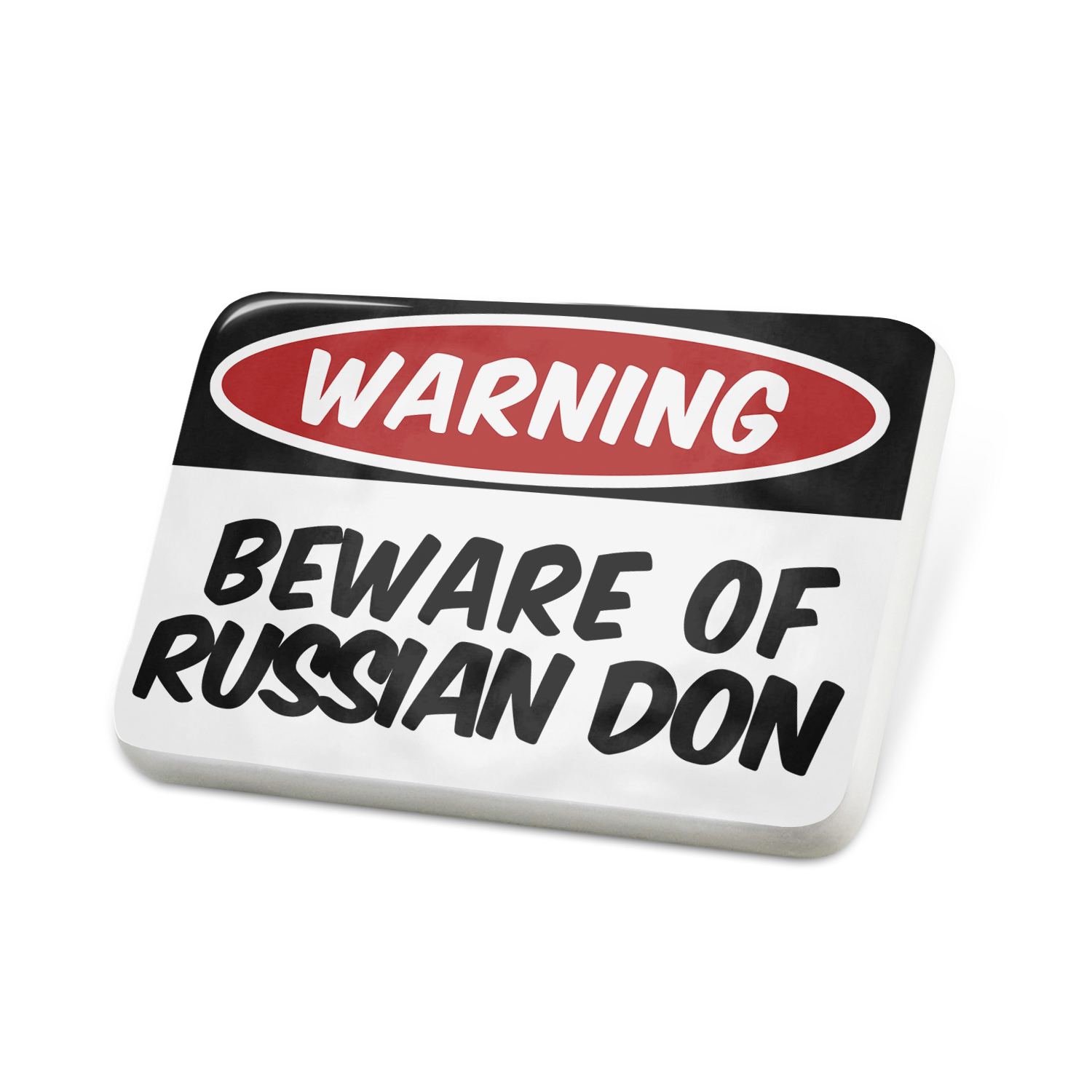 Porcelein Pin Beware of the Russian Don, Horse Lapel Badge – NEONBLOND