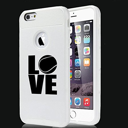 Apple iPhone SE Shockproof Impact Hard Soft Case Cover Love Tennis (White),MIP