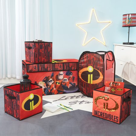 Incredibles Storage Set (Trunk, 2 pack cubes, Sequin Cube and Hamper) ()