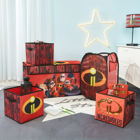 - Incredibles Storage Set (Trunk, 2 pack cubes, Sequin Cube and Hamper)