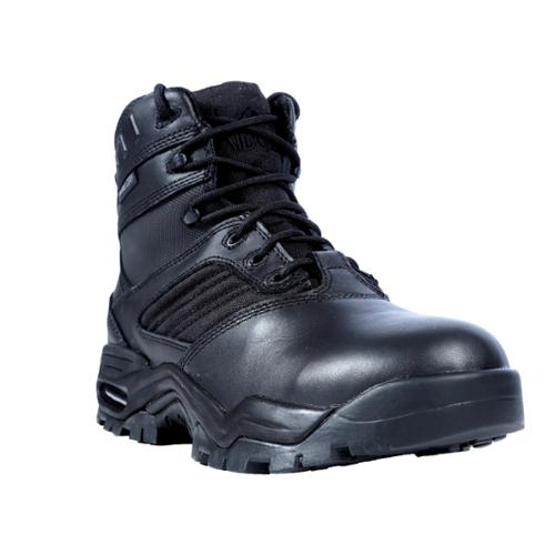 Ridge Outdoors USA Inc. Ridge Outdoors Men's Black Leather Mid Zipper Motorcycle Boots