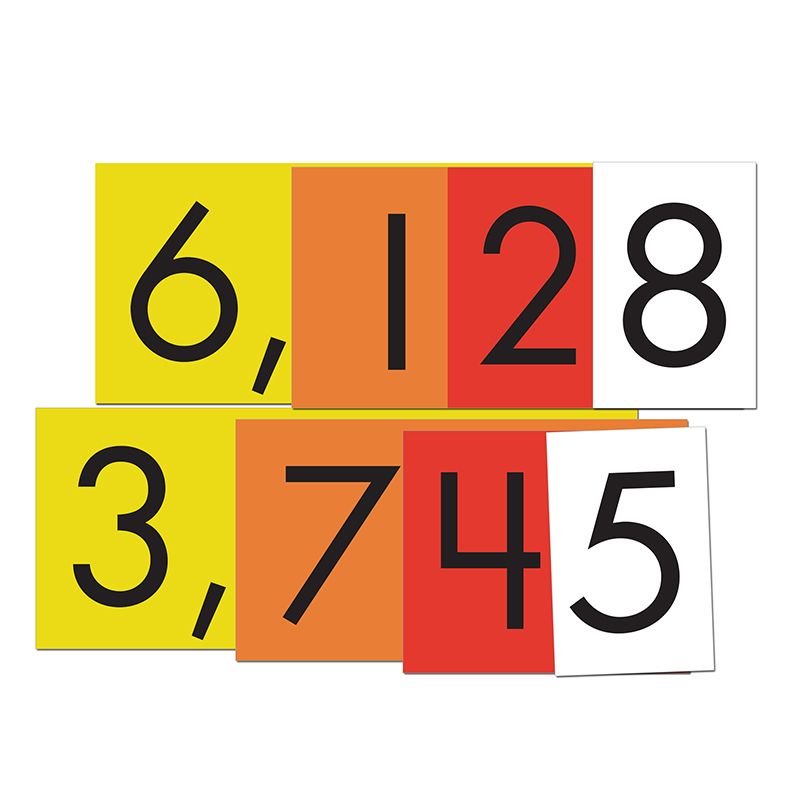 (6 PK) 4-VALUE WHOLE NUMBERS PLACE VALUE CARDS SET