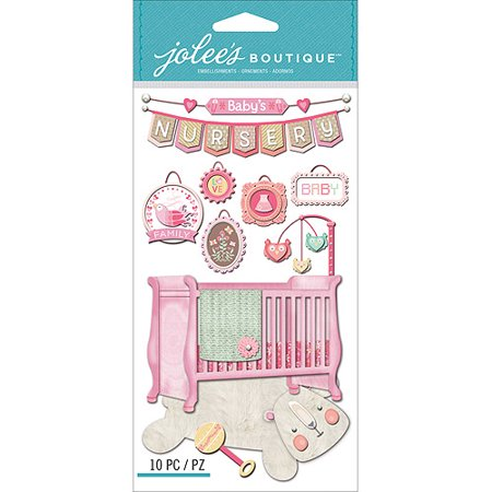 Jolee's Boutique Dimensional Stickers, Baby Girl - Nursery](Girl Stickers)