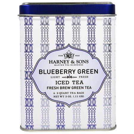 Harney   Sons  Blueberry Green Iced Tea  6 - 2 Quart Tea Bags  3 oz  0 11