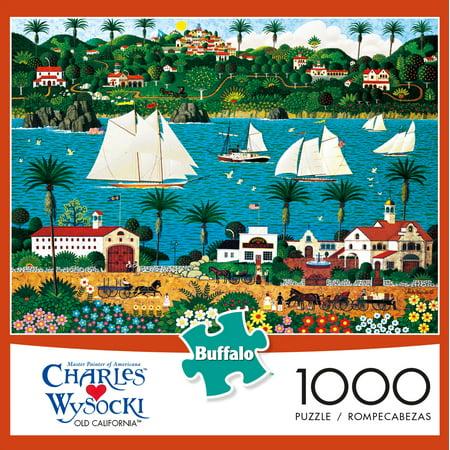 Buffalo Games 1000 Piece Puzzle, Charles Wysocki: Old California - Dora Halloween Puzzle Games