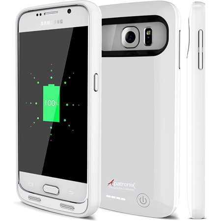 Galaxy S6 Battery Case, Alpatronix BX410 3500mAh Slim External Protective Removable Rechargeable Portable Charging Case for Samsung Galaxy S6 [S6 Charger Case / Android OS 6.0+ Support] - WHITE