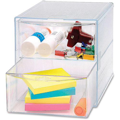 Sparco Removable Storage Drawer Organizer, Clear