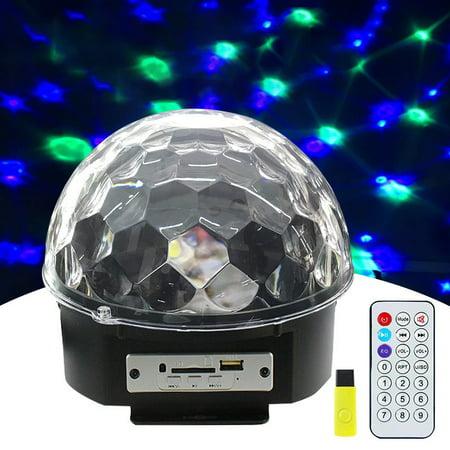 LED Remote control U Disk Crystal Magic Ball Stage Light Card