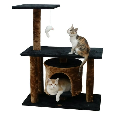 Go Pet Club Cat Tree Condo 38 in., Brown