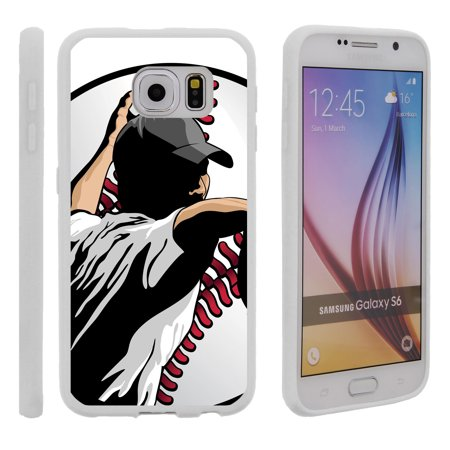 Sling Pitcher (Samsung Galaxy S6 G920, Flexible Case [FLEX FORCE] Slim Durable TPU Sleek Bumper with Unique Designs - Pitcher in Action)