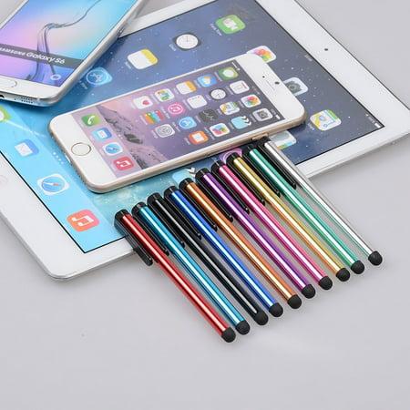 Stylus Pen, IC ICLOVER 10pcs Pencil Mini Stylus Fine Point Touchscreen Pen for iPhone 8/Plus 7 Plus 6s Plus 6/ iPad/ iPod Shuffle/ Samsung S8 S7 S6 Edge Plus S5 S4 S3 Note 5 4/ Talet/ PS4 ()