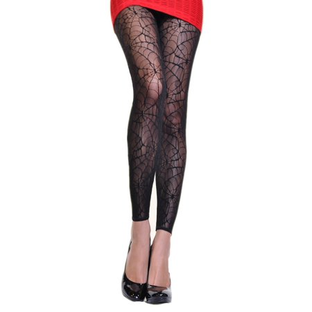 Lace Stretch Tights (Angelina Lace Tights with Multi-Knit Patterns (1-Pack) )