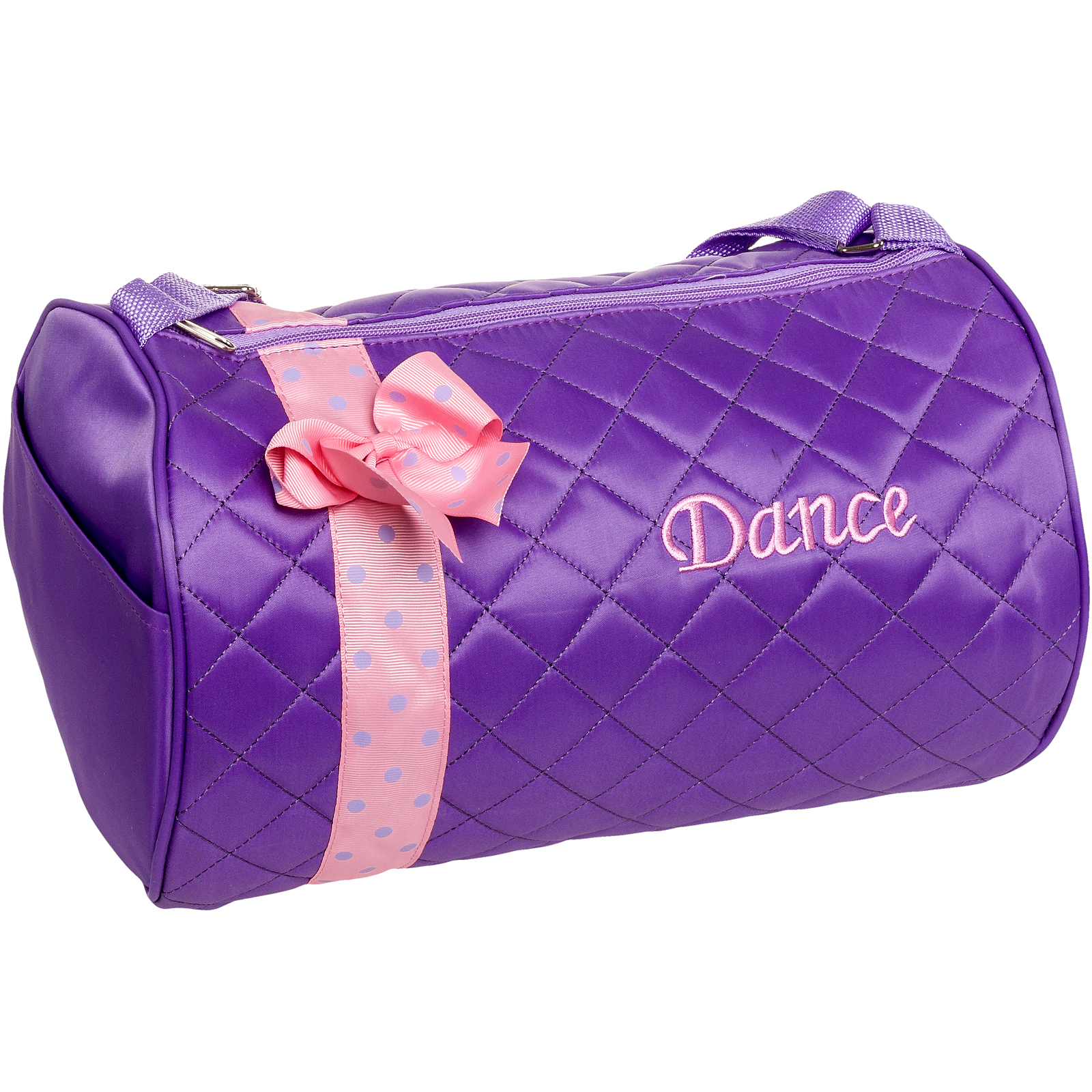 SILVER LILLY NEW Girl Dance Cheer Ballet Duffel Travel Gym Duffle Bag w/ Bow NWT