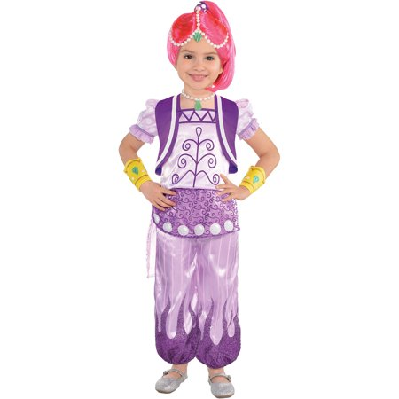 Genie Halloween Costumes For Girls (Shimmer Purple Genie Halloween Costume for Girls, Shimmer and Shine,)