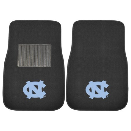 NCAA University of North Carolina - Chapel Hill Tar Heels 2-PC Embroidered Front Car Mat Set, Universal Size