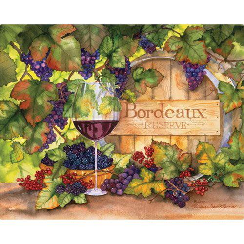 Magic Slice 12'' x 15'' Bordeaux Design Cutting Board