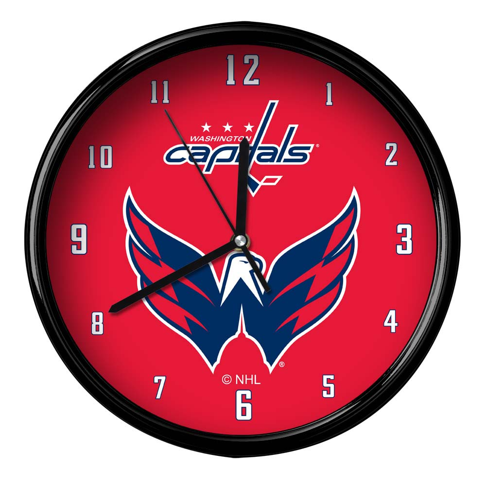 Washington Capitals Black Rim Basic Clock