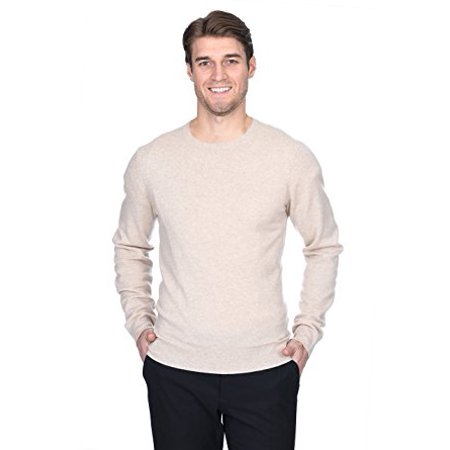 State Fusio Men's Cashmere Wool Long Sleeve Pullover Crew Neck (Wool Crewneck Sweater)