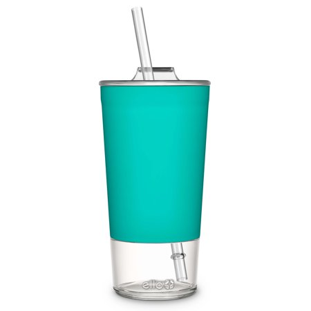 Tidal Glass Tumbler with Straw, Mint, 20 oz - Cute Tumblers With Straws