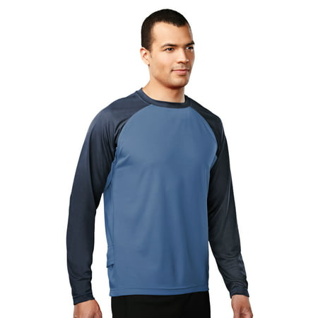 - Tri-Mountain Performance Tomahawk 634 Crewneck Knit Shirt, 2X-Large, Azure Blue/Navy