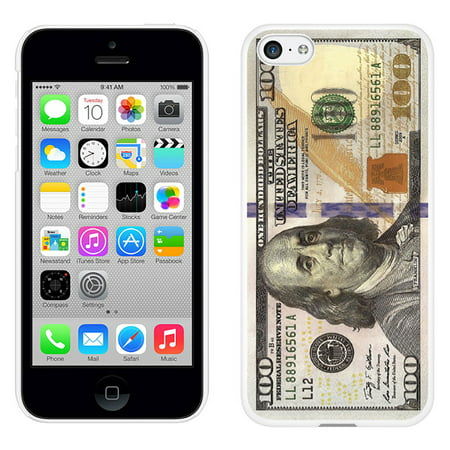 Cellet White Proguard Case with New $100/One Hundred Dollar Bill for Apple iPhone 5c (Tennis Cases For Iphone 5c)