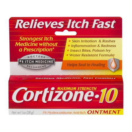 Cortizone 10 Maximum Strength 1  Hydrocortisone Anti Itch Ointment  1Oz