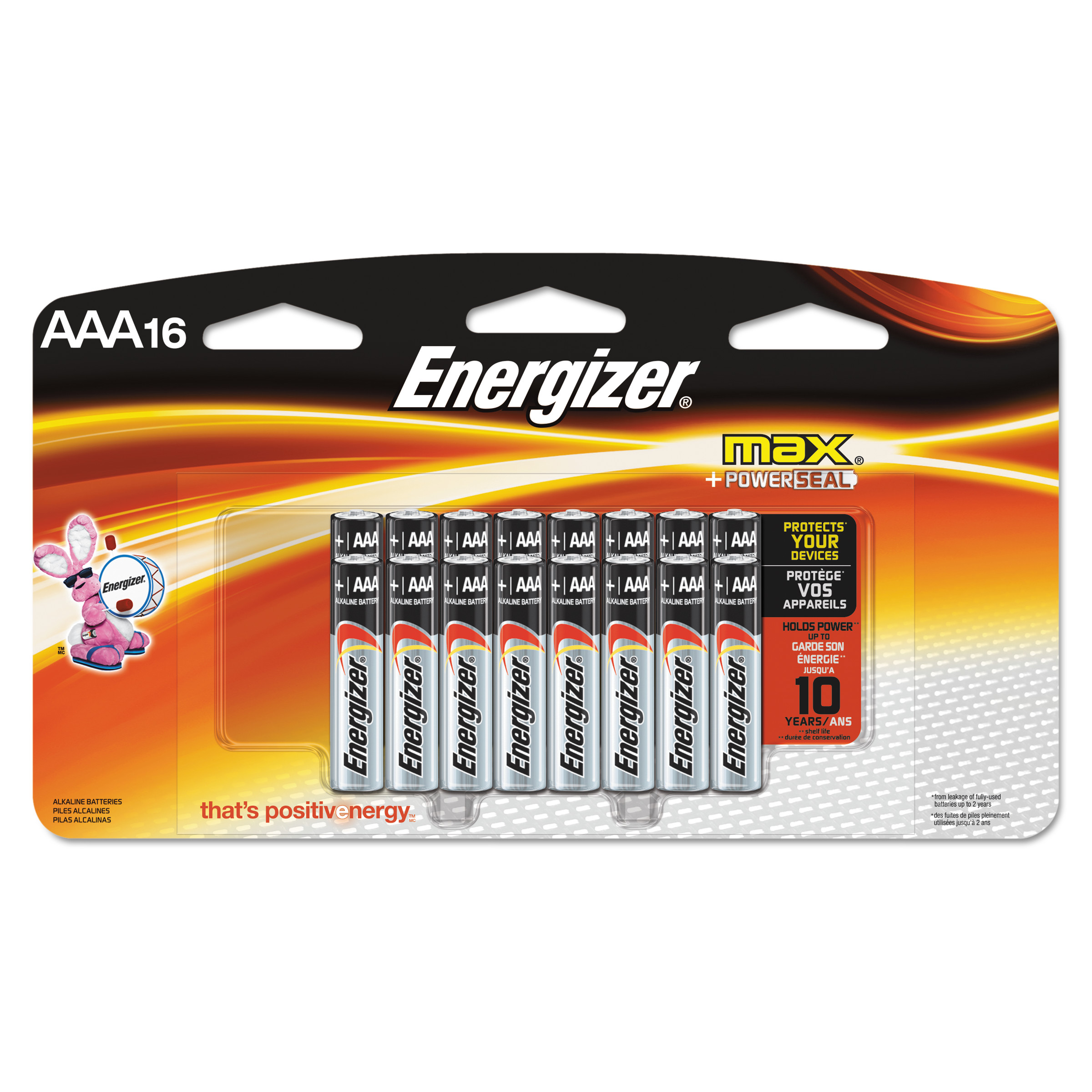 Energizer MAX Alkaline, AAA Batteries, 16 Pack