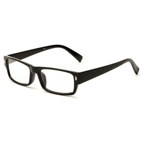 readerscom the althorpe rectangular wide frame cheater glasses rectangle reading glasses - Wide Frame Glasses