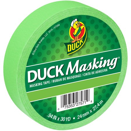 "Duck Masking Tape .94""X30yd-Light Green"