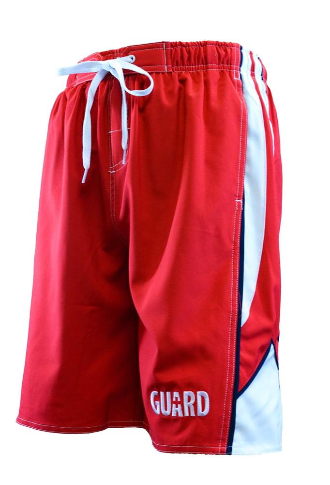 Ultrastar Men's Guard Arrow Board Short Swimsuit (UMG010) - Red/White - Small
